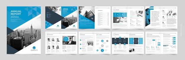 プロの企業パンフレットまたは小冊子テンプレート