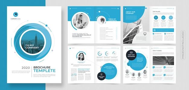 プロフェッショナルな企業向けパンフレットまたは小冊子テンプレート