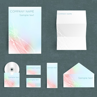 Professional corporate identiry set with your company name in pastel colors