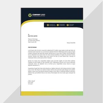 Professional corporate letterhead