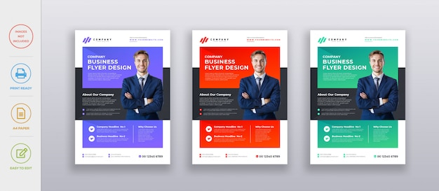 Professional corporate modern company business flyer design template