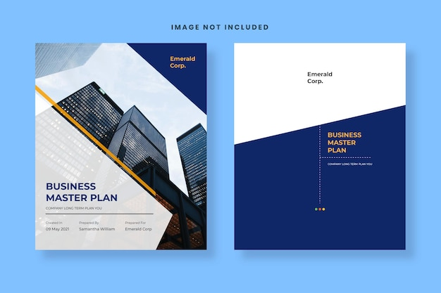 Professional cover business plan template free vector