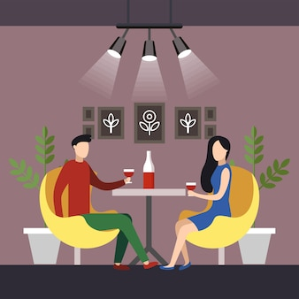 Professional coworking space flat cartoon vector.