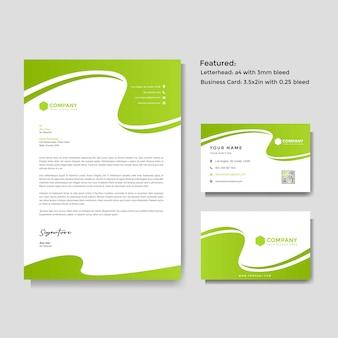 Профессиональный креативный бланк и шаблон визитной карточки вектор