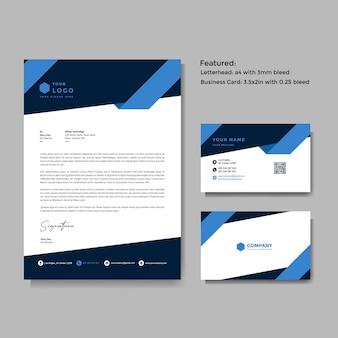 Профессиональный творческий бланк и векторный шаблон визитной карточки