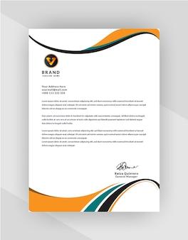 あなたのビジネスのためのプロの創造的なレターヘッドテンプレートデザイン