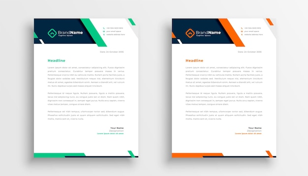 Professional creative letterhead template design for your business