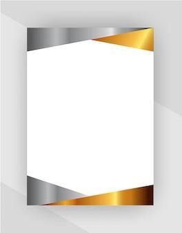 Professional creative letterhead template on transparent background