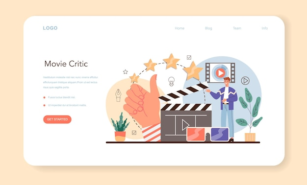 Professional critic web banner or landing page