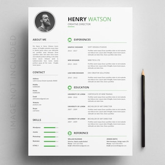 Professional Curriculum Flat Template
