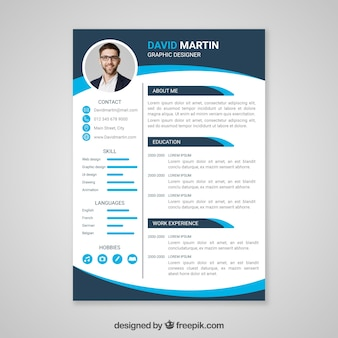 Graphics Designer Resume Vector