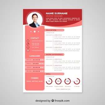 Cv vectors photos and psd files free download professional curriculum vitae template yelopaper Gallery
