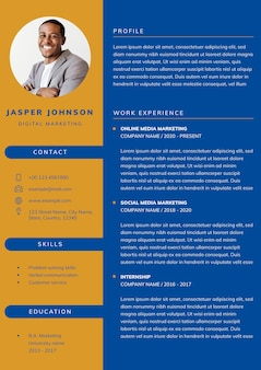 Professional cv editable template for professionals and executive level