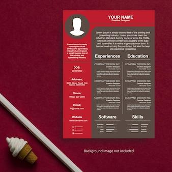 プロの履歴書テンプレートデザインとレターヘッドのベクトル図