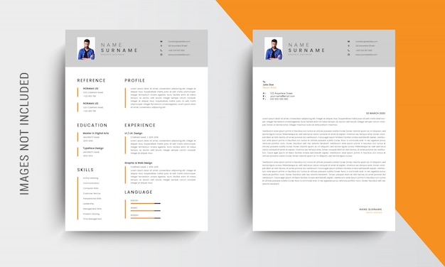 Professional cv resume template design and letterhead, cover letter,  template job applications