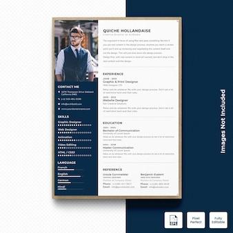 プロフェッショナルcv履歴書テンプレートベクトルプレミアム