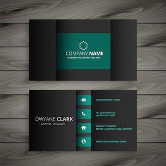 Professional dark business card design