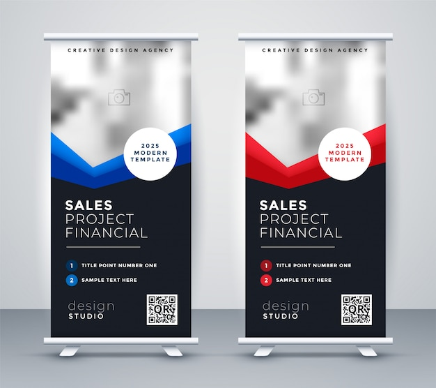 Professional dark company roll up standee banner