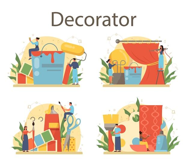 Professional decorator concept set
