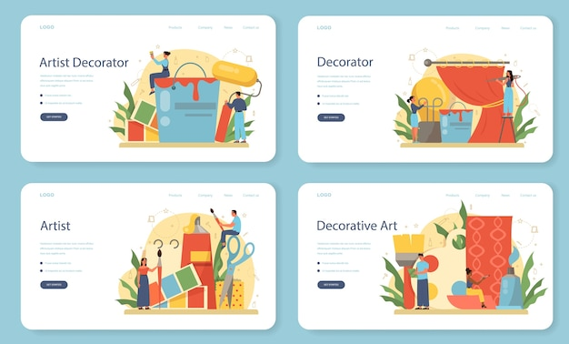 Профессиональный декоратор веб-баннера или набора целевой страницы