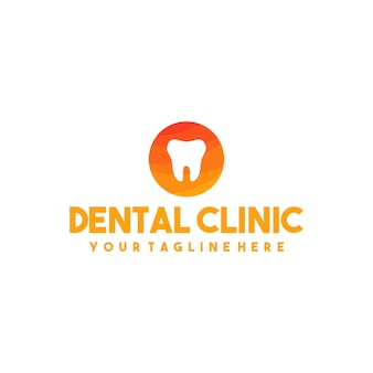 Professional dental clinic logo