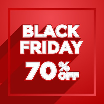 Professional Design Template for Black Friday with long shadow