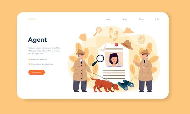 Профессиональный детективный веб-баннер или целевая страница