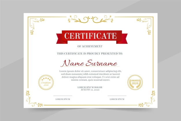 Professional diploma template