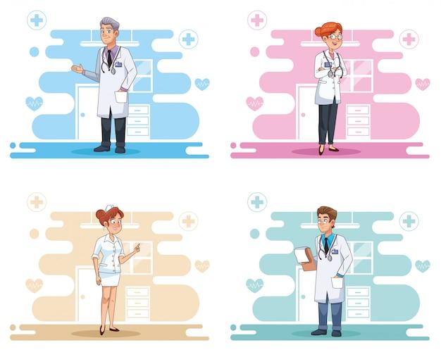 Профессиональные врачи сотрудники аватары персонажей