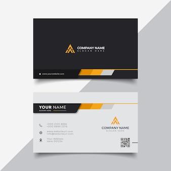 Профессиональный элегантный оранжевый современный шаблон дизайна визитной карточки