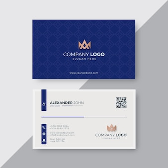 Professional elegant red and white modern business card design template