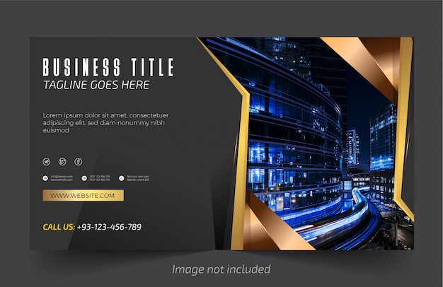 Professional and elegant website and business banner