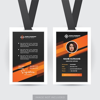Professional employee id card template