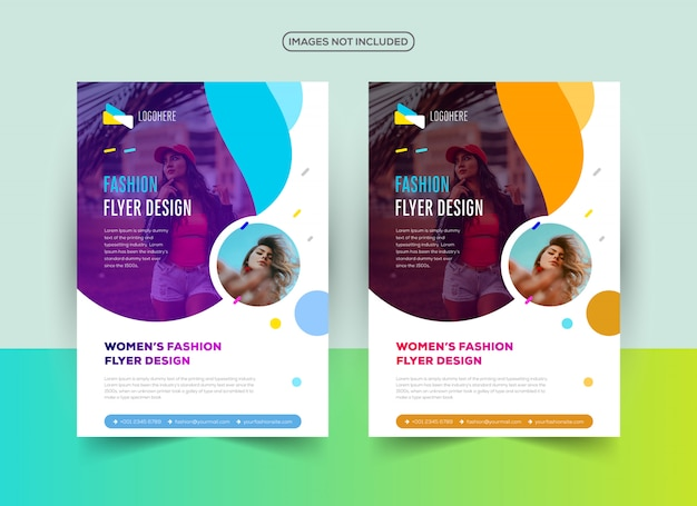 Professional fashion flyer design template