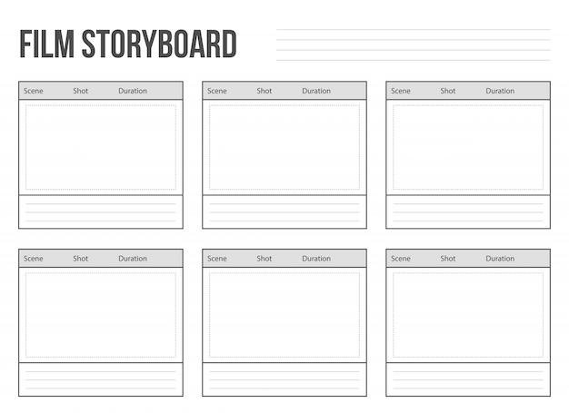 Professional film storyboard