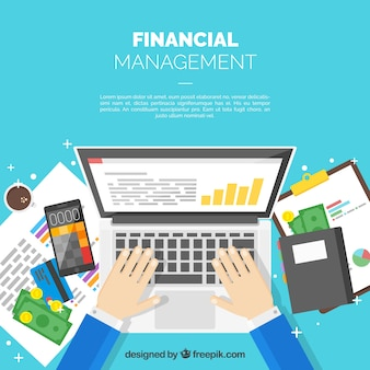 Professional finance concept with laptop