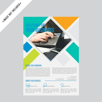 Professional flyer business brochure design background template
