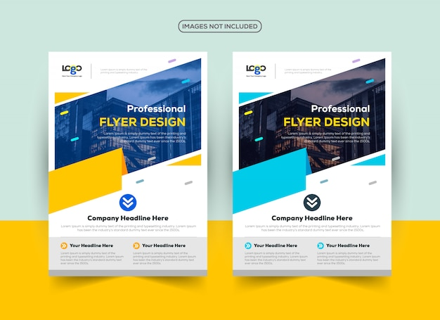 Professional flyer design template