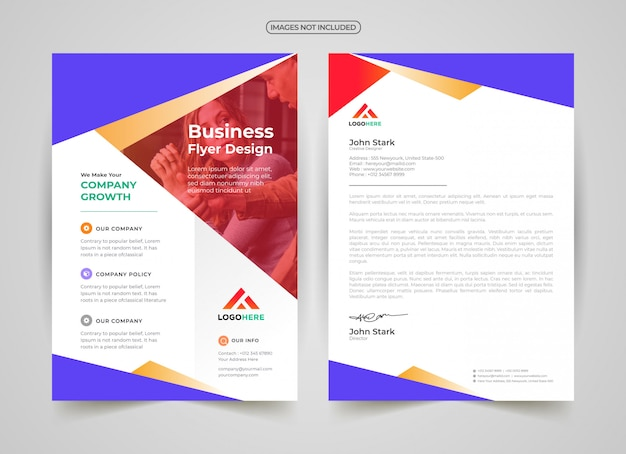Professional flyer and letter head template