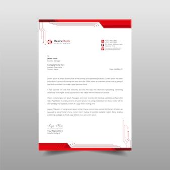 プロの未来的なレターヘッドデザインビジネスレターヘッドテンプレート