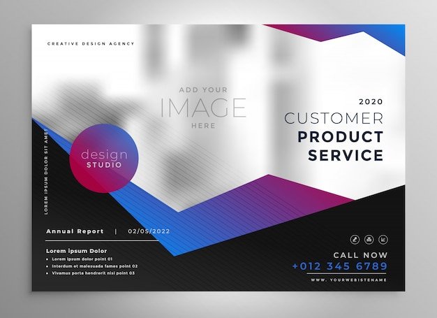 Professional geometric brochure presentation template