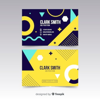Professional geometric business card template