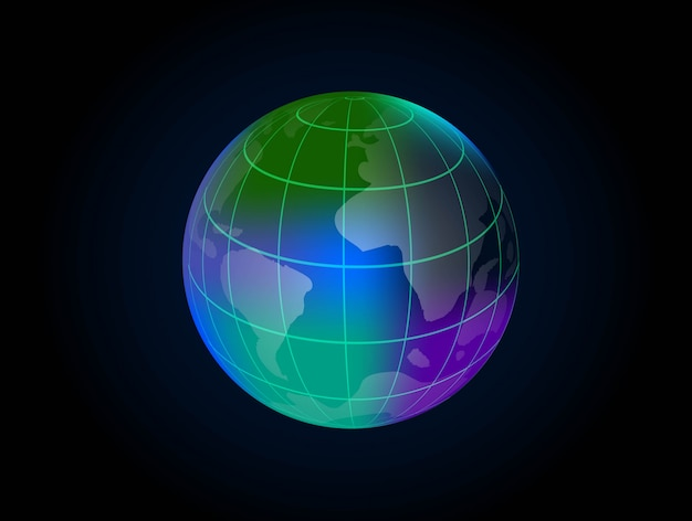Professional globe design vector