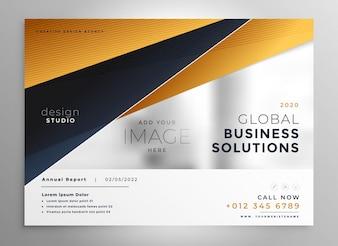 Professional gold geometric brochure design template