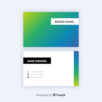 Professional gradient business card template