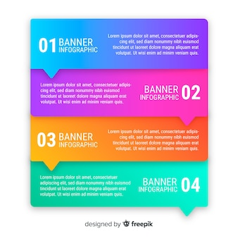 Professional gradient infographic