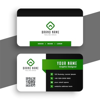 Professional green business card design template