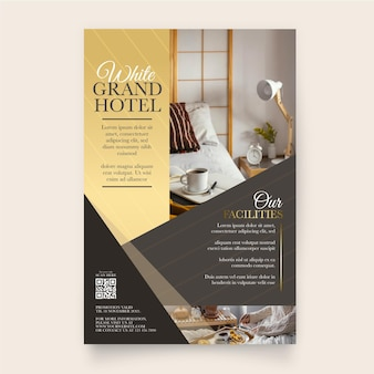 Professional hotel information flyer with photo