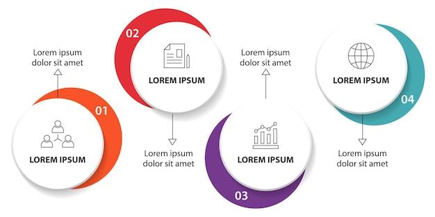 Профессиональный инфографический шаблон бизнес-графа