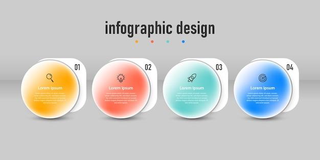 透明なプロのインフォグラフィックデザイン